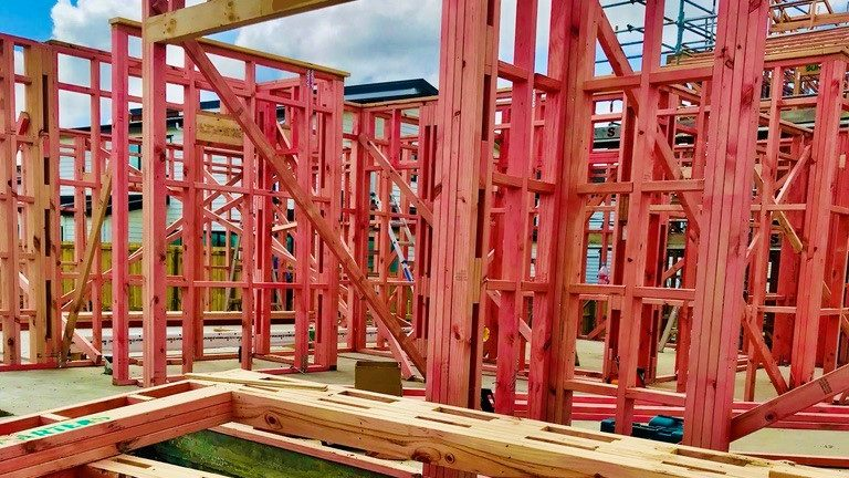 Timber framed externals walls